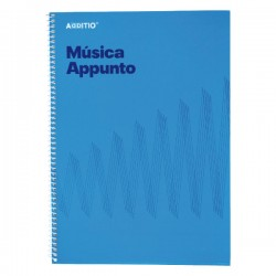 Cuaderno música Appunto Additio A4