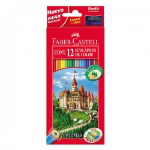Estuche 12 lápices Faber-Castell colores surtidos