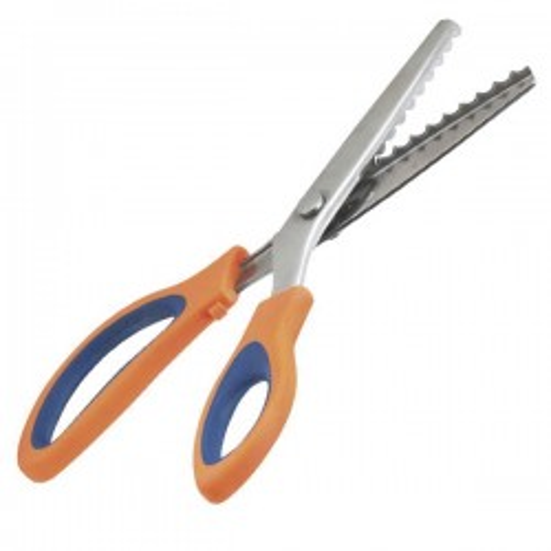 Tijeras dentadas para fieltro 24cm en forma de picos