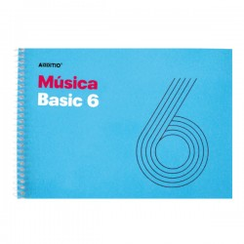 Cuaderno música 6 pentagramas de 9mm por pag. 25h