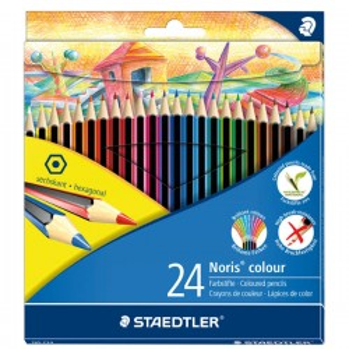 Caja 12 lápices de colores Noris club verde claro