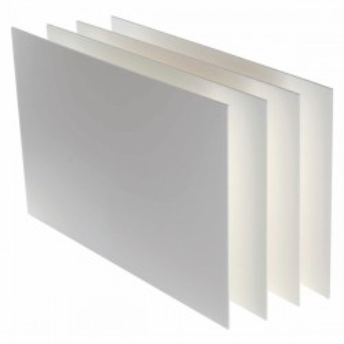Cartón pluma poliuretano blanco 3mm 70x100 cm
