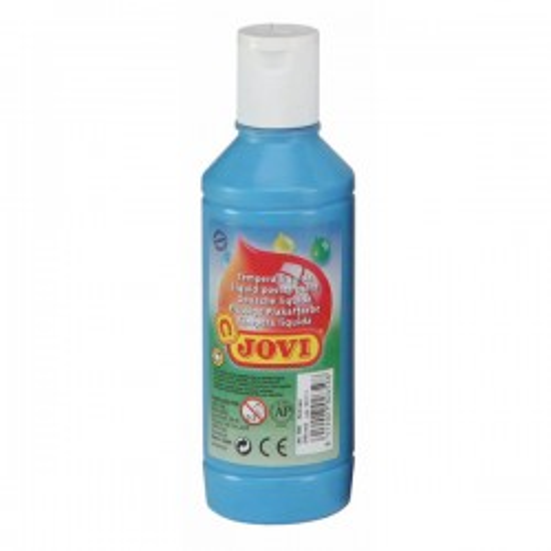 Botella tempera liquida Jovi 500ml azul cyan