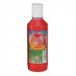 Botella tempera liquida Jovi 500ml rojo