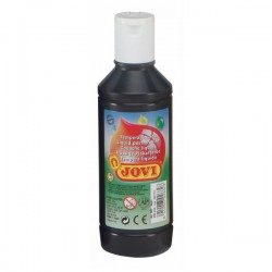 Botella tempera liquida Jovi 500ml negro