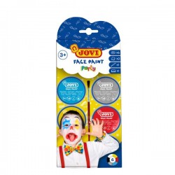 Set 6 botes maquillaje Face Paint Jovi 8ml + accesorios Party