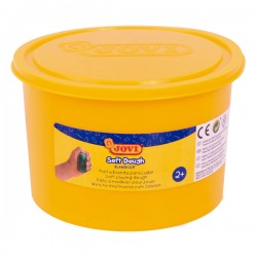 Bote de pasta blanda para modelar blandiver de 460gr amarillo