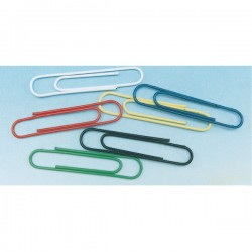 Caja 100 clips nº2 32mm. Colores surtidos