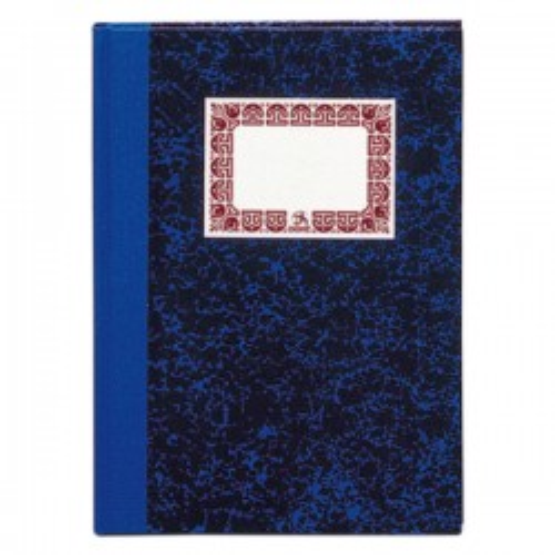 Cuaderno cartoné tamaño folio azul