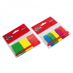 Blister 3 marcadores Fixo Notes PET 25x43mm. 25h.x 3 colores Neón Surtidos