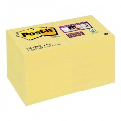 Notas autoadhesivas Post-it Super Sticky 76 x 127 mm