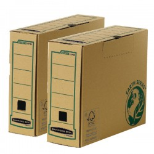 Caja de archivo definitivo Bankers Box Lomo 100mm. Folio Pack 20u.