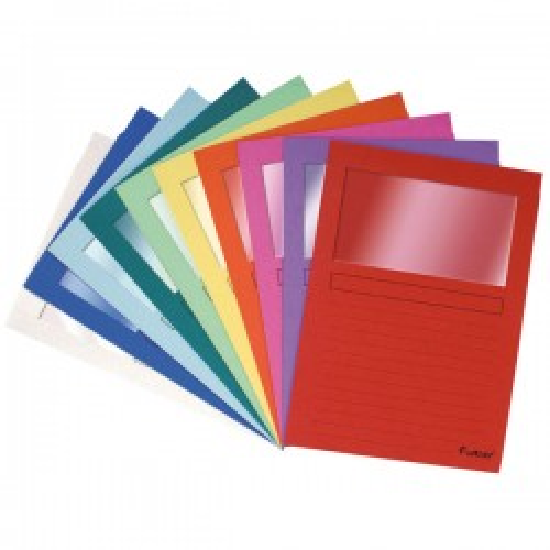 Pack de 25 supcarpetas con ventana colores surtidos