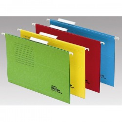 Carpeta colgante de color con visor superior Amarillo