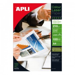 Pack 100h papel fotográfico Glossy doble cara 210gr A4