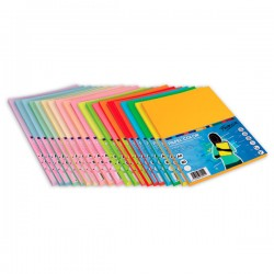 Pack 100h papel color paperline 80gr A4 amarillo limon
