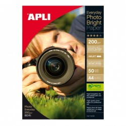 Papel fotográfico Apli brillante Everyday 200g. A4 50h.