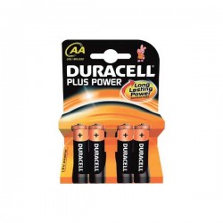 Blister 4 pilas Duracell Plus Power 1,5v LR06 AA