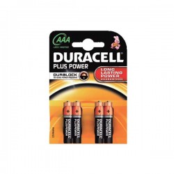 Blister 4 pilas Duracell Plus Power 1,5v LR03 AAA