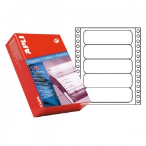 Etiquetas para impresora matricial salida 1 etiqueta 101,6x36mm