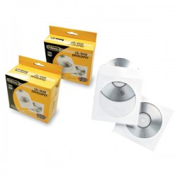 Pack 50 sobres CD Fellowes Blanco