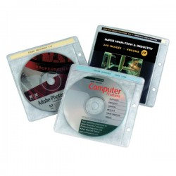Pack 10 fundas CD (2 taladros)