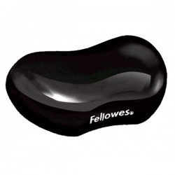 Reposamuñecas para ratón Fellowes Gel Crystal Negro