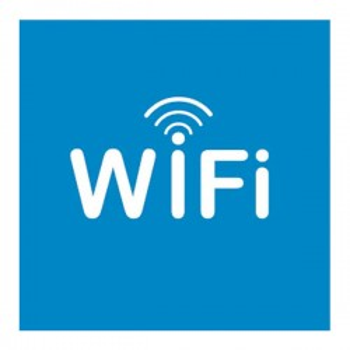 Señal adhesiva Apli puertas zona wifi