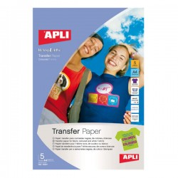 Pack 5h papel transfer para prendas de color
