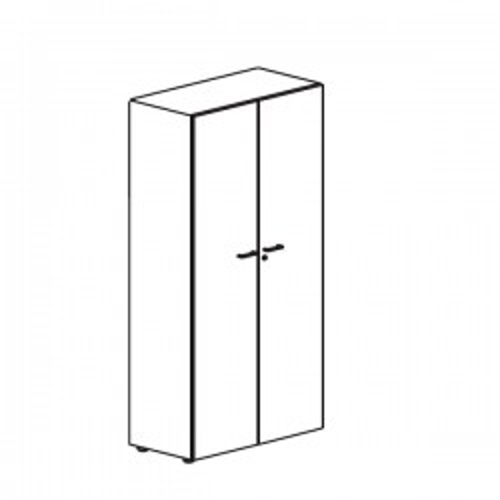 Armario puertas completas Serie Premier 75x42x80cm. Incluye 1 estante. Blanco/Roble