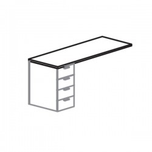 Ala para mesa+buc serie Iog_in encimera roble 120x60x75cm.