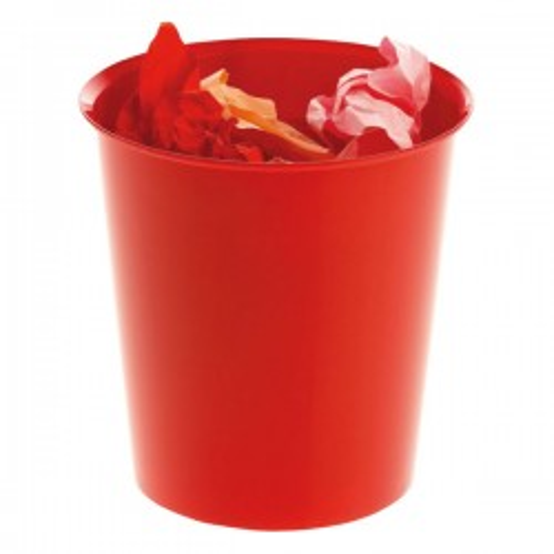 Papelera de polipropileno Rojo
