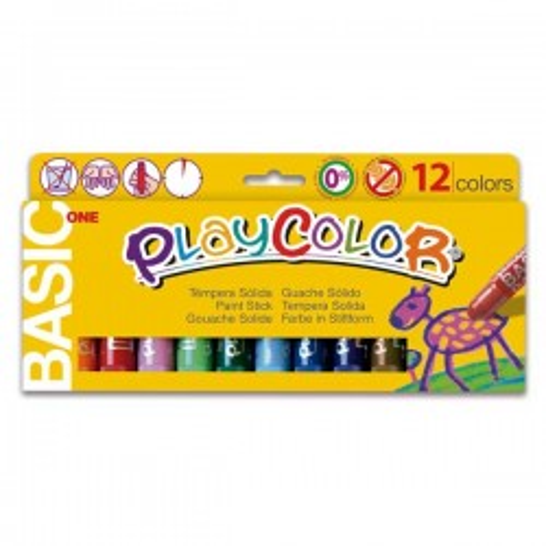 Estuche 12 témperas sólidas Playcolor One Basic colores surtidos