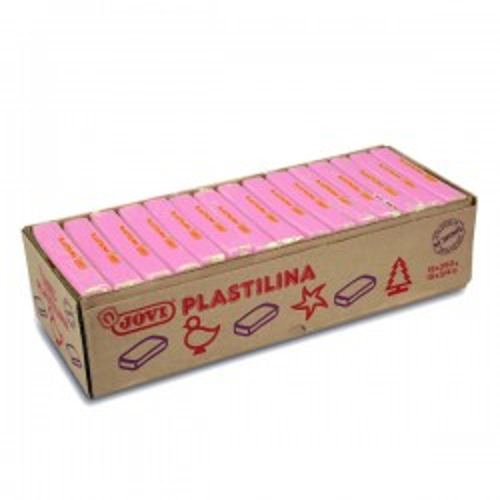 Pastilla de plastilina Jovi de 350g. rosa