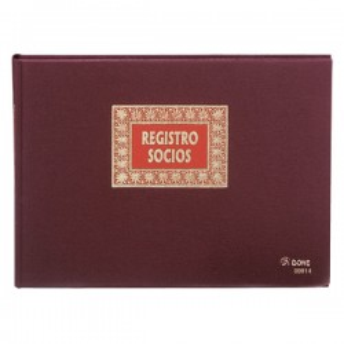 Libro registo socios Dohe Folio apaisado