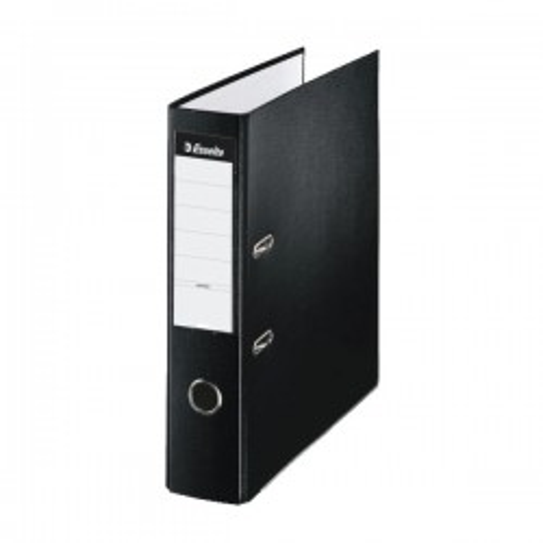 Archivador de palanca Esselte plástico forrado Lomo 75mm. Folio Negro