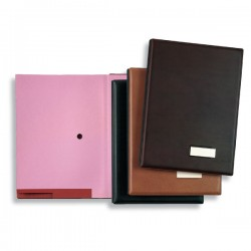 Portafirmas Pardo Acolchado 18 compartimentos Simil piel Folio Negro