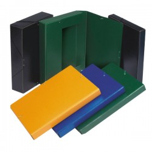 Caja de proyectos Fabrisa Lomo 70mm. Cartón gofrado A4 Negro