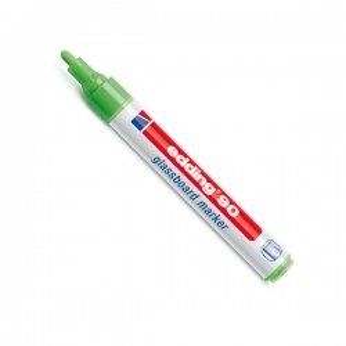 Marcador punta redonda edding 90 pizarras cristal trazo 2-3mm verde claro