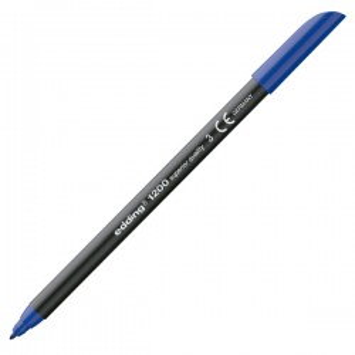 Rotulador punta de fibra edding 1200 Azul