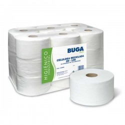 Rollo papel higiénico 2 capas ø 17,5cm.x130m. 650 servicios Pack 18 rollos